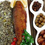 دستور پخت سبزی پلو با ماهی قزل آلا